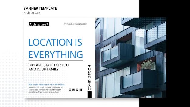 Modelo de banner do conceito de arquitetura Psd grátis