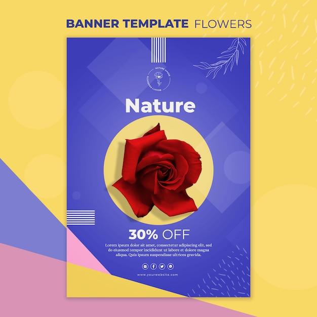 Modelo de banner do conceito de flor Psd grátis