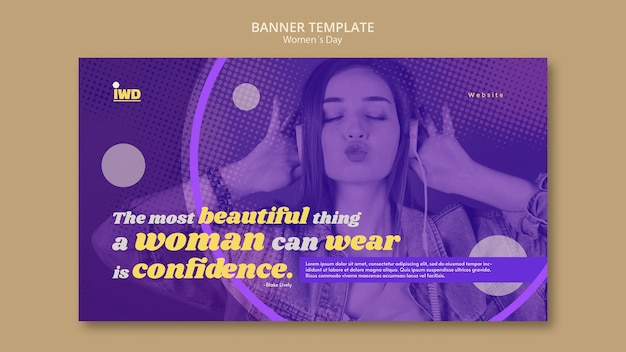 Modelo de banner do dia das mulheres Psd grátis