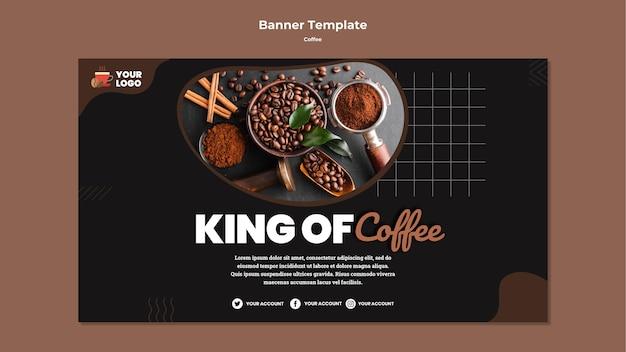 Modelo de banner do rei do café Psd grátis