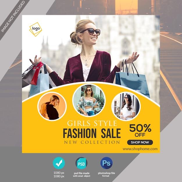 Modelo de banner especial de mídia social de moda ou post no instagram Psd Premium