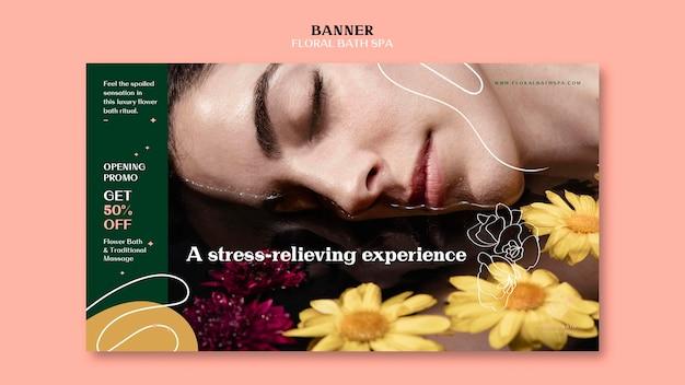 Modelo de banner floral para spa Psd Premium