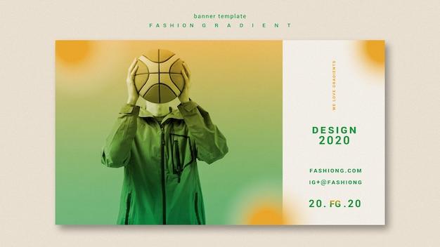 Modelo de banner gradiente de moda Psd grátis