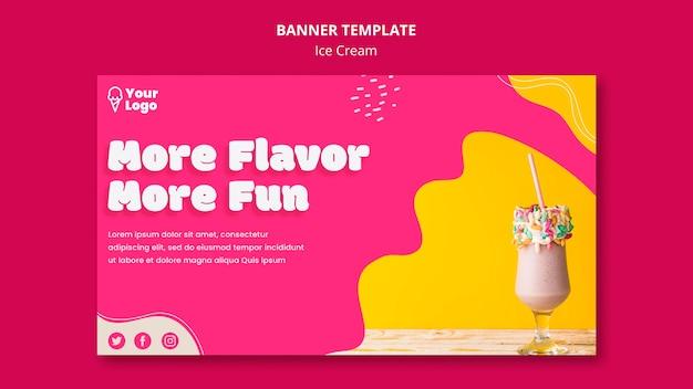 Modelo de banner mais sabor mais divertido Psd grátis