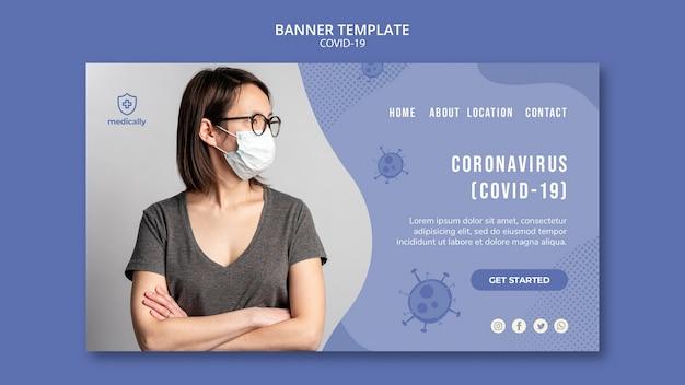 Modelo de banner pandemia covid-19 Psd grátis