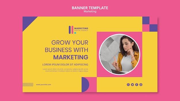 Modelo de banner para agência de marketing criativo Psd grátis
