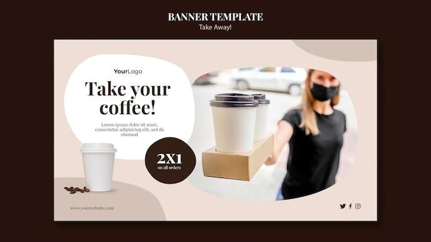 Modelo de banner para café para viagem Psd grátis
