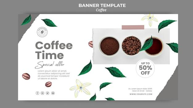 Modelo de banner para café Psd Premium
