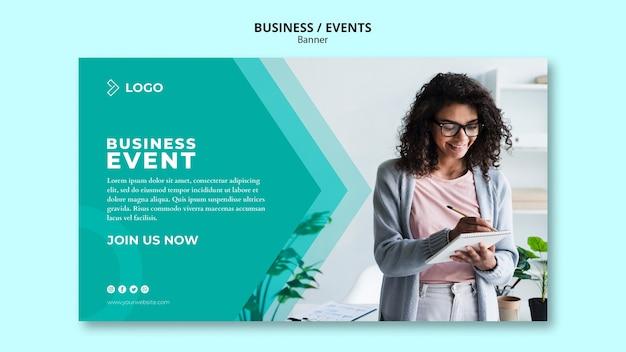 Modelo de banner para evento de negócios Psd grátis