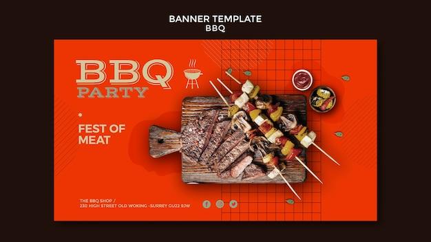 Modelo de banner para festa de churrasco Psd grátis