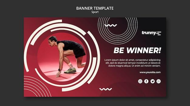 Modelo de banner para fitness e esporte Psd grátis