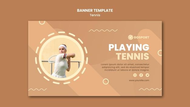 Modelo de banner para jogar tênis Psd grátis