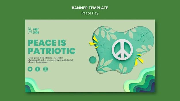 Modelo de banner para o dia internacional da paz Psd grátis