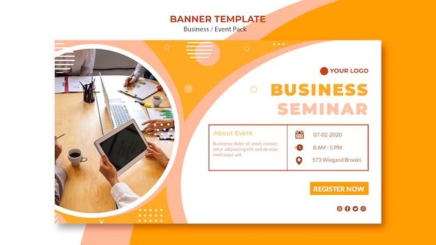 Modelo de banner para seminário de negócios Psd grátis