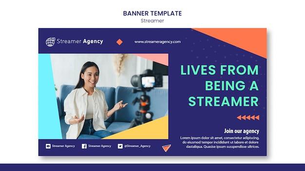 Modelo de banner para streaming de conteúdo online Psd grátis