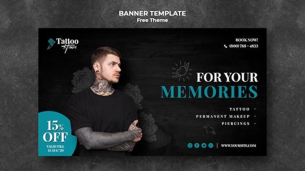 Modelo de banner para suas memórias de tatuagem Psd grátis