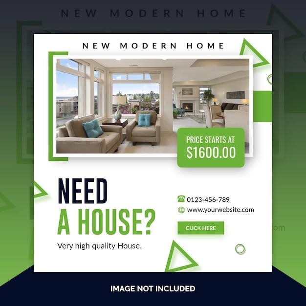 Modelo de banner quadrado imobiliário Psd Premium