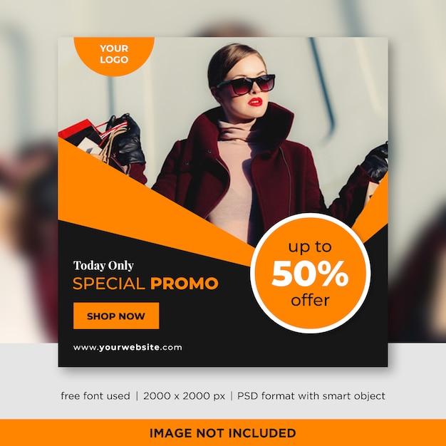 Modelo de banners de mídia social de venda de moda Psd Premium