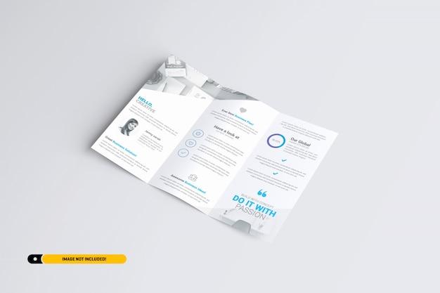 Modelo de brochura com três dobras a4 Psd Premium