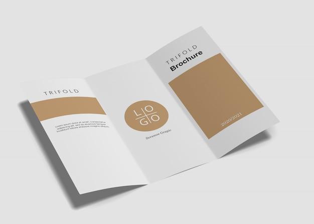 Modelo de brochura com três dobras Psd Premium