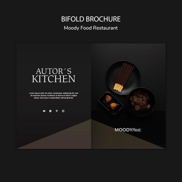 Modelo de brochura - restaurante de comida temperamental Psd grátis