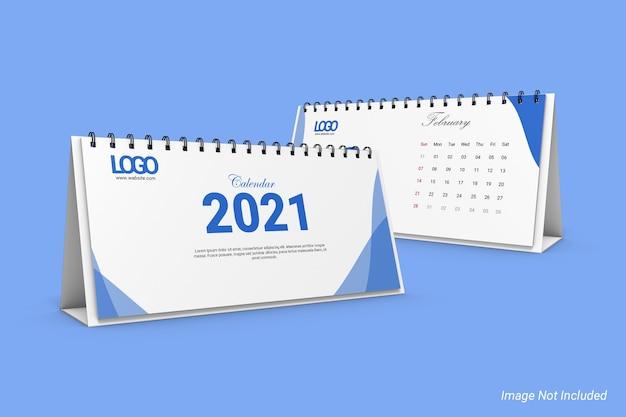 Modelo de calendário de mesa de negócios dl landscape Psd Premium