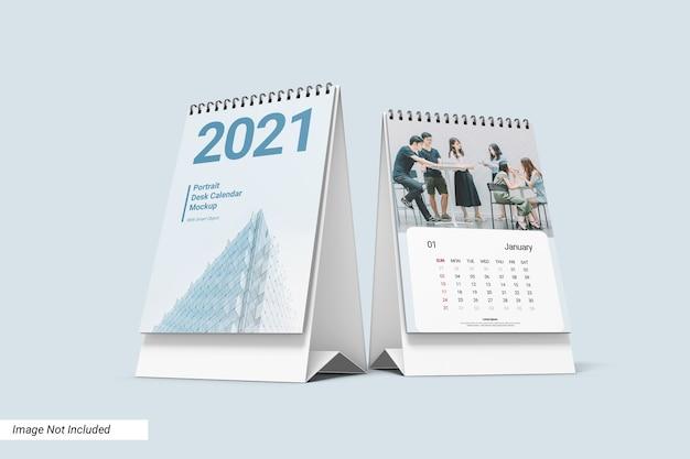 Modelo de calendário de mesa do retrato Psd Premium