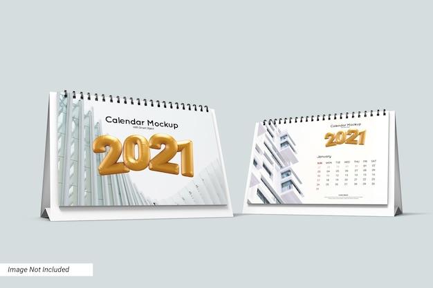 Modelo de calendário de mesa em paisagem isolada Psd Premium