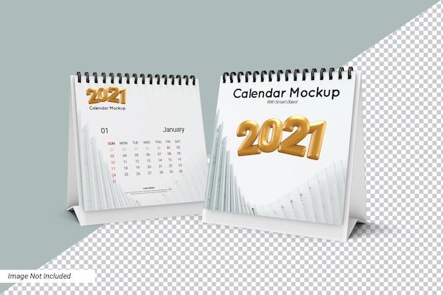 Modelo de calendário de mesa quadrado isolado Psd Premium