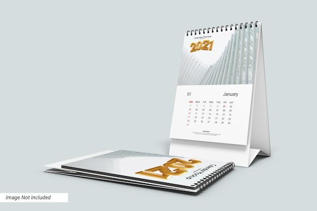 Modelo de calendário de mesa retrato isolado Psd Premium