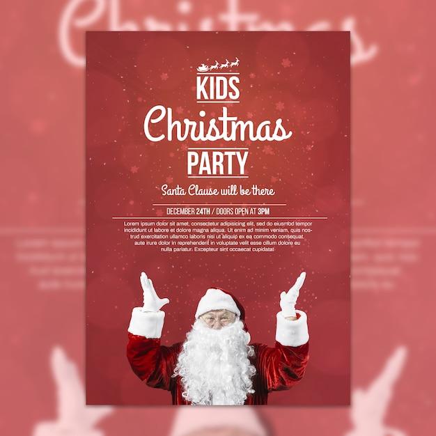 Modelo de capa de festa de natal criativa Psd grátis