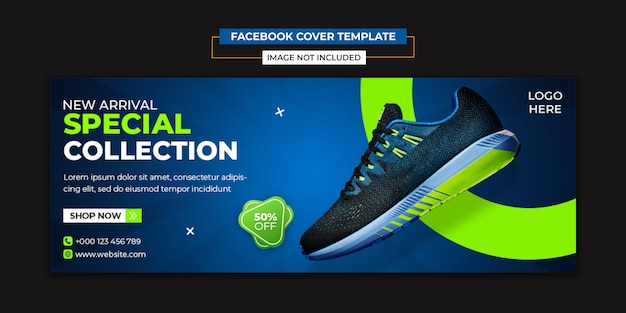 Modelo de capa de mídias sociais e facebook especiais de sapatos Psd Premium