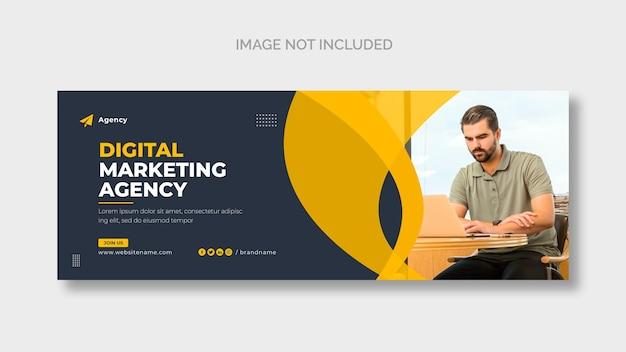 Modelo de capa do facebook corporativo de marketing digital Psd grátis
