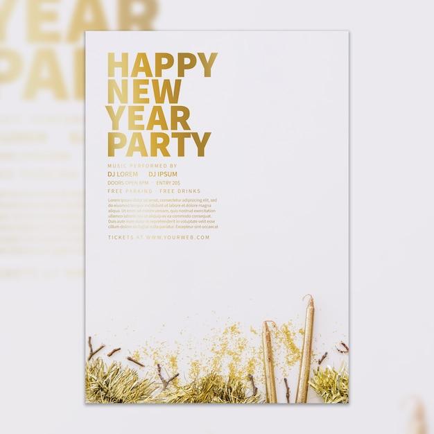 Modelo de capa elegante de ano novo Psd grátis