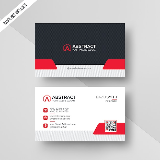 Modelo de cartão abstrato Psd Premium