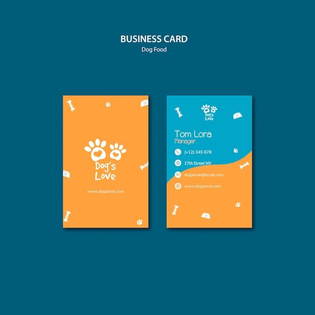 Modelo de cartão com tema de comida de cachorro Psd grátis