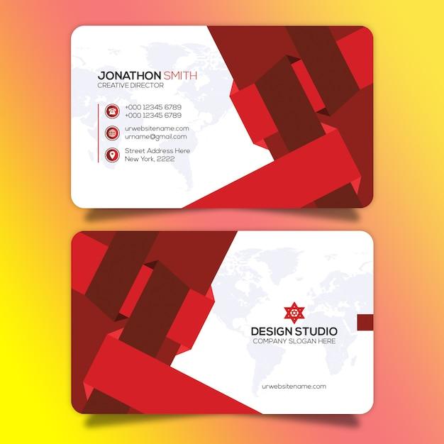 Modelo de cartão criativo Psd Premium