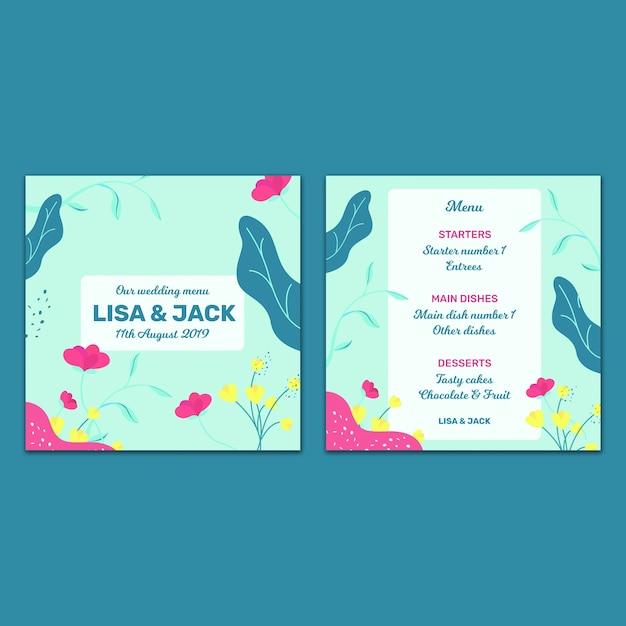 Modelo de cartão de casamento bonito Psd grátis