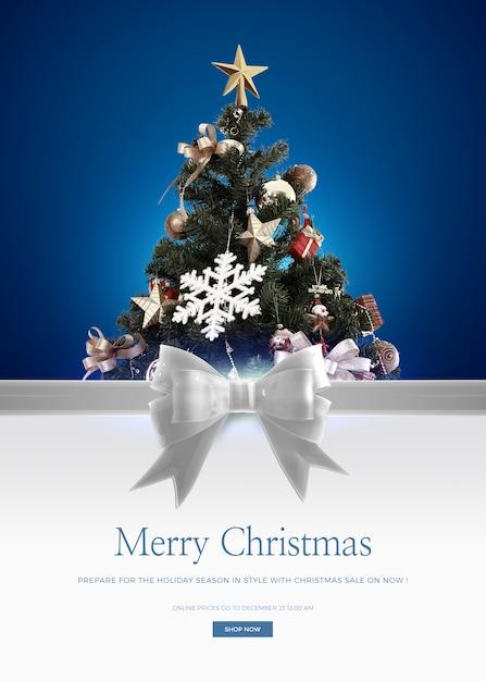 Modelo de cartão de feliz natal Psd Premium