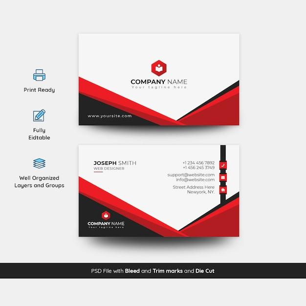 Modelo de cartão de negócios exclusivo e criativo Psd Premium