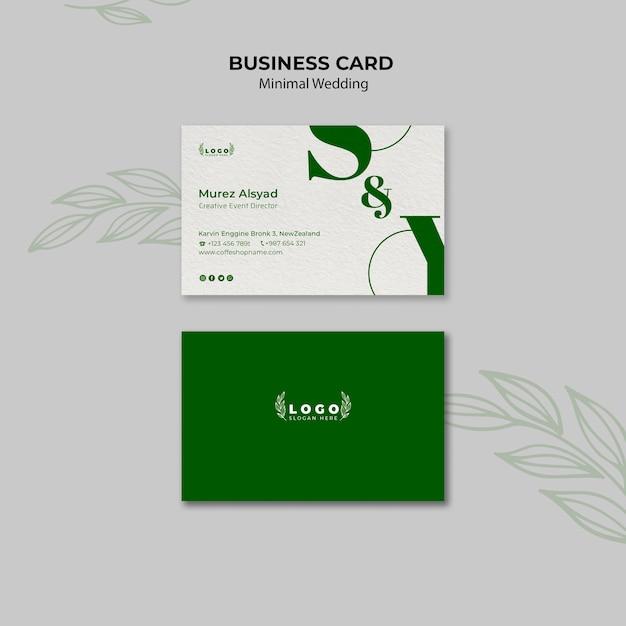 Modelo de cartão de visita - casamento mínimo Psd grátis