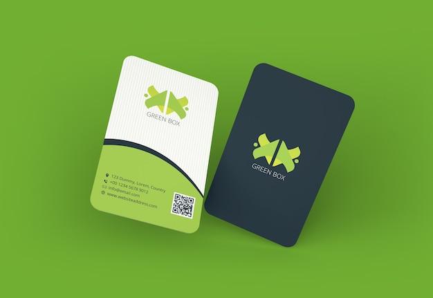 Modelo de cartão de visita com canto arredondado Psd Premium