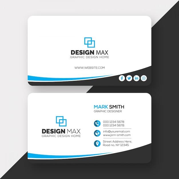 Modelo de cartão-de-visita - corporativo Psd Premium