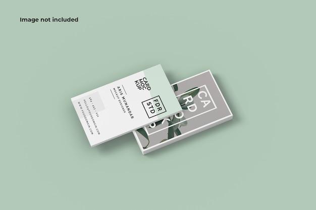 Modelo de cartão de visita flutuante Psd Premium