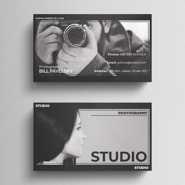 Modelo de cartão-de-visita - fotografia Psd grátis