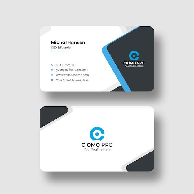 Modelo de cartão de visita limpo Psd grátis