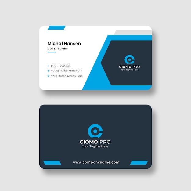 Modelo de cartão de visita profissional Psd grátis