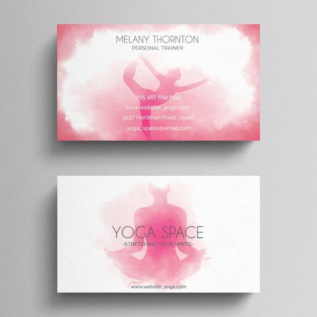 Modelo De Cartão De Visita Simples Yoga Download Psd