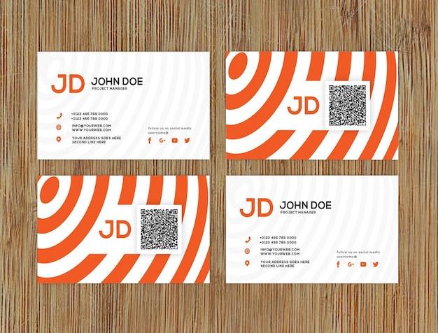 Modelo de cartão de visita Psd Premium