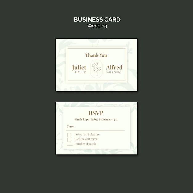 Modelo de cartão elegante para casamento Psd grátis